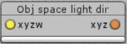 Obj space light dir