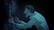 Michio drawing his last painting