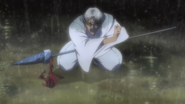 Shigure getting the spear back