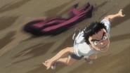 Oni attacking Ushio