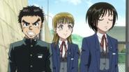Ushio, Mayuko and Asako walking to school together