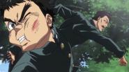 Kenichi punching Ushio