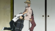 Ushio helping his father to leave faster