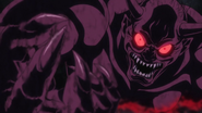 Michio as Oni coming out of the painting