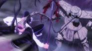 Stone Eater hitting Ushio