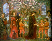 The Enchanted Garden of Messer Ansaldo by Marie Spartali Stillman (1889)