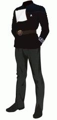 Uniform dress black po 1