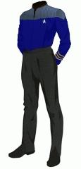 Uniform duty blue commander