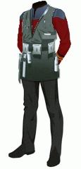 Uniform duty red lt cmdr engineering vest