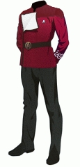 Uniform dress red senior cpo