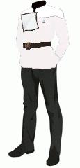 Uniform dress white crewman recruit