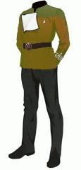 Uniform dress gold cpo