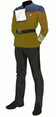 Uniform dress gold cadet1