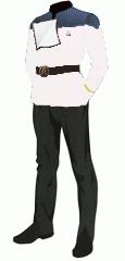 Uniform dress white ensign