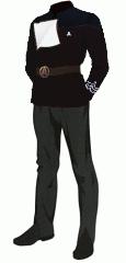 Uniform dress black cpo