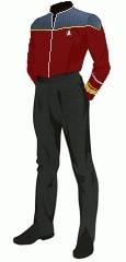 Uniform duty red rear admiral