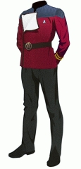 Uniform dress red lt