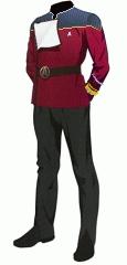 Uniform dress red rear admiral