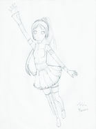 Yumene Design Sketch Uncolored