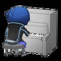 Tonyu on piano by KuroKitsuSan-0