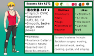Susumu Abe ACT 2 Official Reference