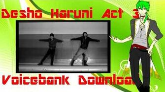 Utau Newcommer Glide Desho Haruni Act 3 Voicebank Download