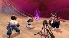 Oshutoru and Anju witnessing Kuon's power