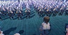 Haku leading the Troops