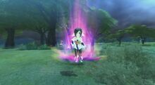 Kuon uses her powers