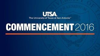 UTSA Spring 2016 Commencement Ceremony 1