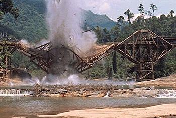 Kwai bridge blown up