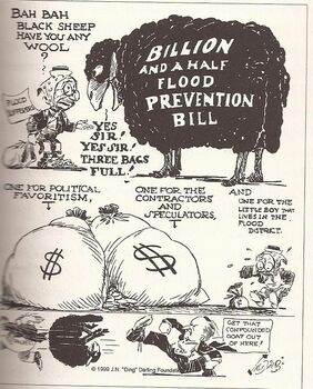 Political Cartoon federal spending river tragdies pg 750001