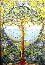 Stained window Tifftree