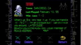 Sega Genesis Xband Interface