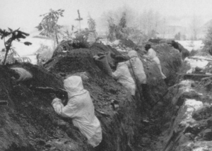 Trenches mannerheim line winter war