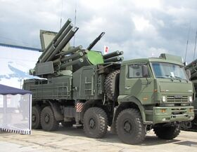 96K6 Pantsir-S1 air defence gun missiles system n wheeled chassis 01