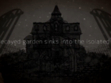 A decayed garden sinks into the isolated sea