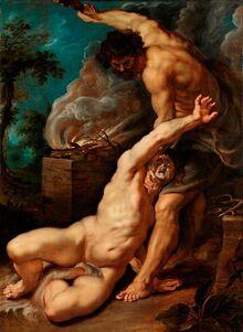 Peter Paul Rubens - Cain slaying Abel, 1608-1609