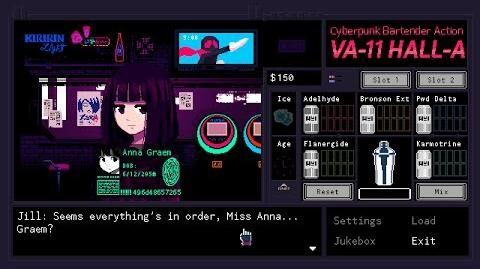 Cyberpunk Bartender Action VA-11 Hall-A Final Trailer