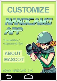 Nanocamo app front page