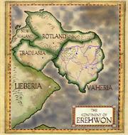 Antique parchment map of Erehwon