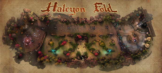 Halcyon Fold Map