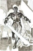 X-O Manowar Vol 3 25 Dodson Variant Sketch