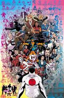Valiant Universe 2015 FCBD Pinup by Kano with 25th Anniversary Logo