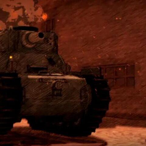 A Gallian Light Tank in urban combat