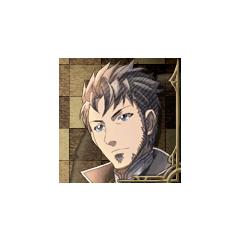 Giulio's portrait in <i>Valkyria Chronicles 3</i>.