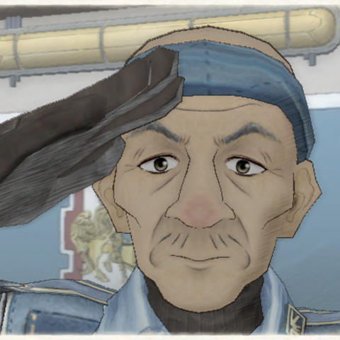 Coby's appearance in Valkyria Chronicles.