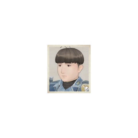 Kevin's portrait in <i>Valkyria Chronicles</i>.