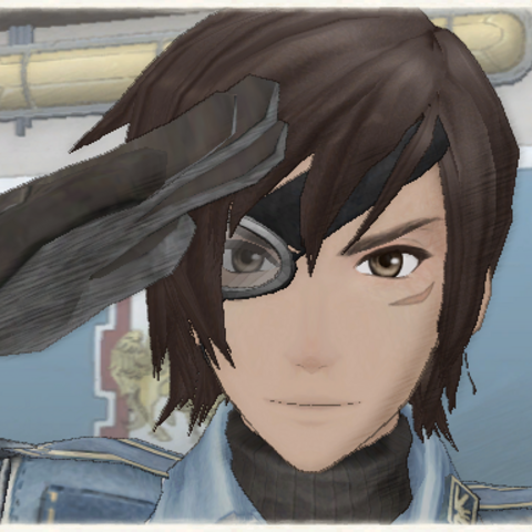 Vyse's appearance in Valkyria Chronicles.
