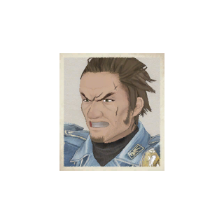 Musaad's portrait in <i>Valkyria Chronicles</i>.
